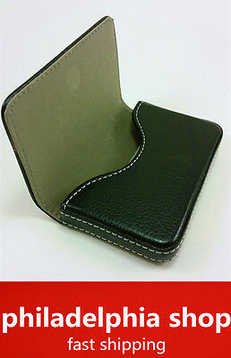 New Leather Business Name Credit ID Card Holder Wallet Case New Black 357