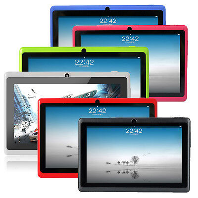 """Multi-color 7"""" Google Android 4.4 Tablet PC A23 4GB/8GB Dual Core dual camera"""