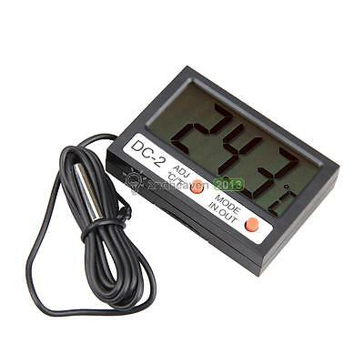 Auto Car LCD Digital Display Thermometer Indoor Outdoor Temperature Measure New
