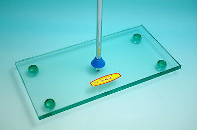 lab armorplate glass burette support stand with rod
