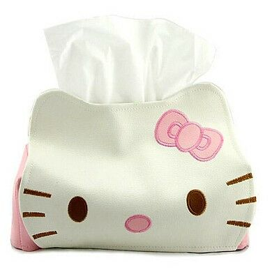 Iebeauty Hello Kitty Tissue Holder Baby Wipes Faux PU Leather Cover Paper Box Ja