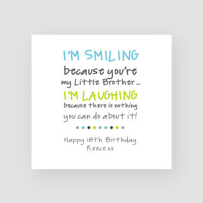 Personalised Handmade Funny Birthday Card For Him Little Brother