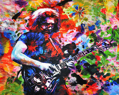 Jerry Garcia Art, Grateful Dead Print, GD Poster, The Dead