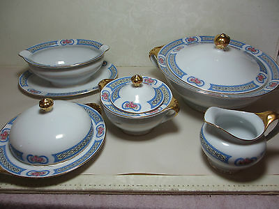 Vintage Royal Bayreuth Fine China Pattern # ROB136 Mixed Lot of Serving Pieces