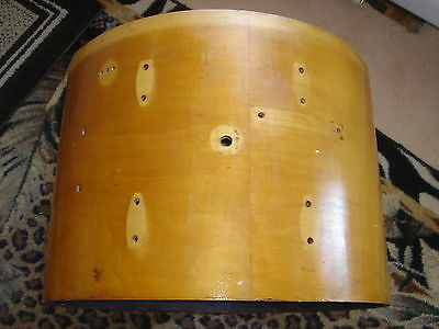 VINTAGE GRETSCH ROUND BADGE 20 INCH BASS DRUM IN RARE MAPLE......WITH LOGO HEADS