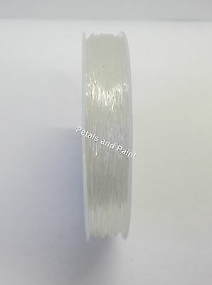 9 Metres Clear Stretch Silicon Elastic 1.0mm for Beading Jewellery Strong Thread