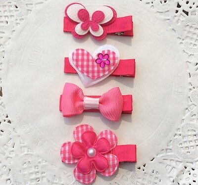 PINK COLLECTION HAIR CLIPS -  Baby,toddler,Girl Hairclips