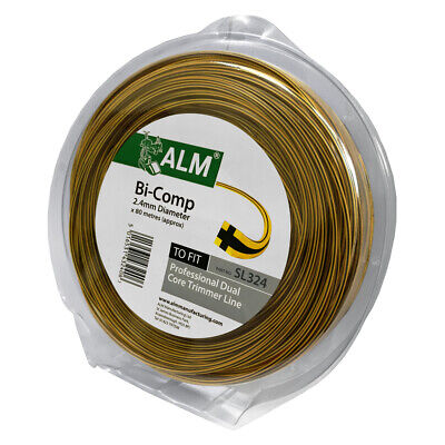 ALM Heavy Duty Professional Strimmer Line Bi-Component 80M x 2.4mm Trimmer Cord
