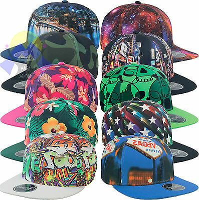 Cappellino ATLANTIS Snap Fantasy RAP Rapper PIATTO Graffiti NY Unisex HIP-HOP