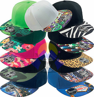 Cappellino ATLANTIS Snap Colour RAP Rapper VISIERA PIATTA Unisex CAP Old School