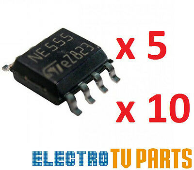 NE555 SMD TIMER IC 8PIN SOIC8 FROM UK SELLER PACKS OF x5 x10