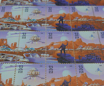 #3238-42 32c Space Discovery  full mint sheet of 20 NH OG