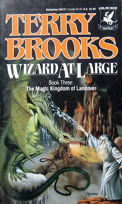 Wizard at Large (Magic Kingdom of Landover #3) by Terry Brooks PB 1st Del Rey