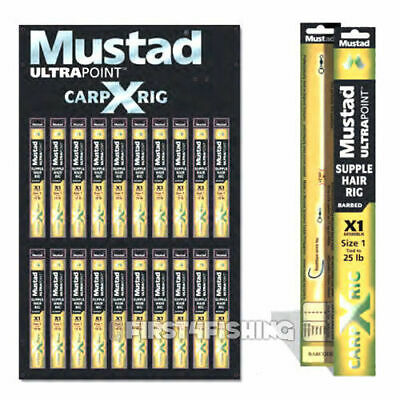 Mustad Carp X Ready Tied Leadcore & Leaders - Barbel Bream Tench Fishing Tackle