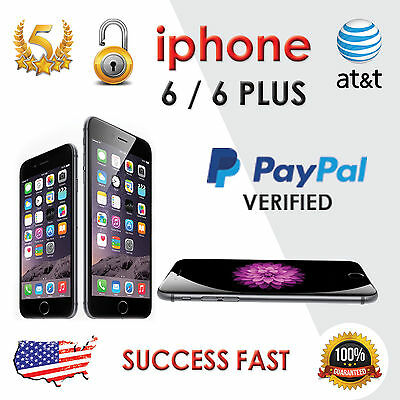 iPhone 6 and 6 Plus - AT&T FACTORY UNLOCK SERVICE  - 100% GUARANTEE - FAST