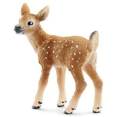 SCHLEICH Toy Animal Figurine Wild Life America Baby 14711 WHITE-TAILED DEER FAWN