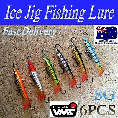 6 X 8g  LIKE FISHING ICE MICRO JIGGING JIG REDFIN JIG LURE TROUT BREAM BASS