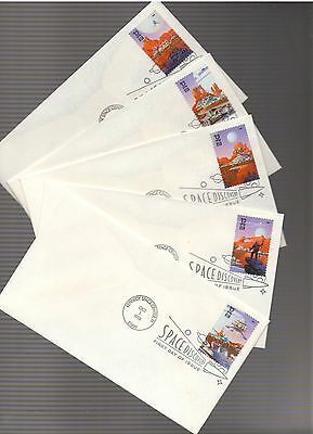 1998 Space Discovery FDC Set of 5 Scott # 3238-42 USPS