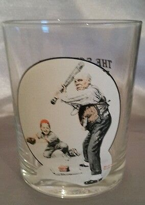 Norman Rockwell Drinking Glass, Excellent Condition
