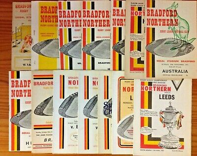 Bradford Northern Rugby League Programmes 1959 - 1993