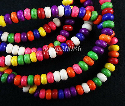 Lot 100pcsmixed color Turquoise disk loose beads For jewelry making 6x4mm