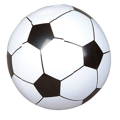 """Inflatable Football Blow up Soccer Beach Ball Swimming Summer Party Bag 12"""" Toy"""