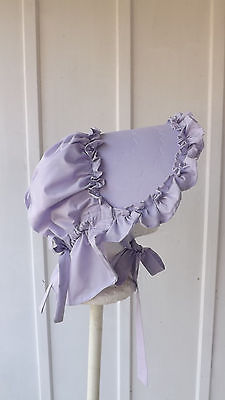 "OZARK BONNETS MADE FROM VINTAGE PATTERN"" LILAC"""