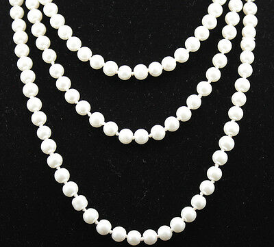 Occident style fashion beautiful white pearl tie a knot tassel charms Necklace