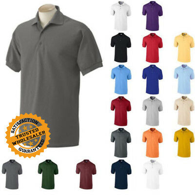 Gildan DryBlend Mens Polo Shirt Jersey T-Shirt All Colors 8800 S-5XL Uniform