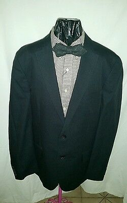 I.N.C International Concept Men's Slim Fit Navy Pinstripe Blazer Size: L