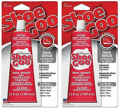 (2 ) Shoe Goo 110011 Clear Adhesive Glue 3.7oz Leather Rubber Vinyl Canvas  *