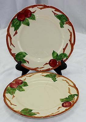 "Vintage Franciscan Apple Dinner Plate Set Lot of 2 10 5/8"" USA"