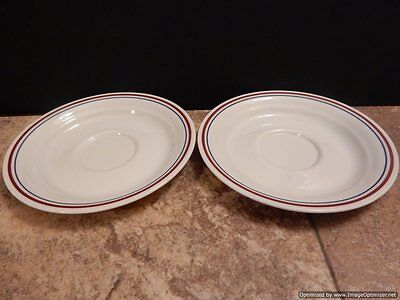 """Corelle Corning Abundance Set of 2 Saucers 6-1/4"""" Made In The USA"""