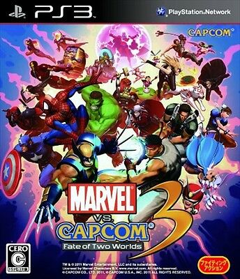PS3 -  Used -  Marvel VS. Capcom 3 Fate of Two Worlds  / import Japan