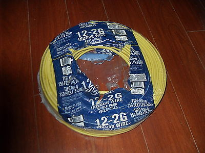 12/2 W/GROUND 600VOLT ROMEX COPPER ELECTRICAL WIRE 20FT LEFTOVER FROM NEW ROLL