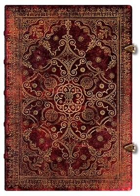 "Paperblanks JOURNAL Equinoxe ""Carmine"" UNLINED Grande 8¼x11¾ Book Writing Art"