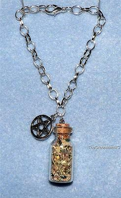 Protection Charm Bracelet, Wicca, Witchcraft, Protection
