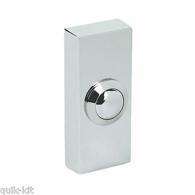 Byron 2204BC Surface Door Bell Push (Highly Polished Chrome)
