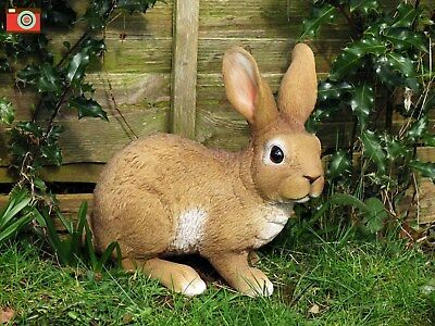 Life Size Large Rabbit, Stunning Home & Garden Ornament. Ultra Realistic