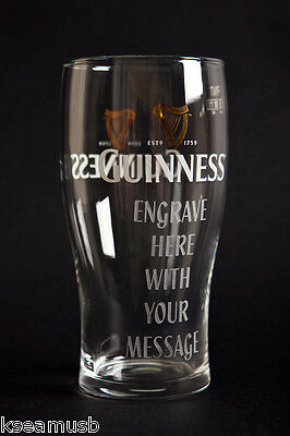 Personalised Guinness Pint Glass - Engraved Wedding/Bestman Gift