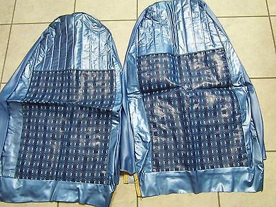 Vtg NOS  Farber Bros Car Seat Covers 1960s 70s Blue Bucket Seats~Muscle Cars (7)