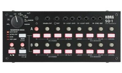 Korg SQ-1 - 2 x 8 Step Sequencer SQ1 - Synchronises CV & MIDI & USB Devices