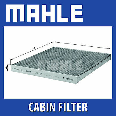 MAHLE Carbon Activated Pollen Air Filter (Cabin Filter) - LAK157 (LAK 157)