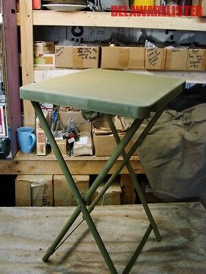*Military/Camping US Army OD Green Heavy Duty Folding Metal Table NOS (New) MIB