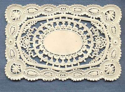 Victorian Die-cut Valentine Paper Lace Rectangles Made in England 120+ Years Ago