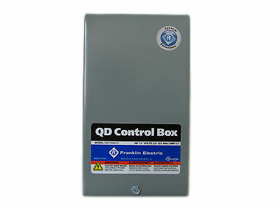 1/2 Hp Quick Disconnect Franklin Electric Water Well Pump Control Box 230Volt