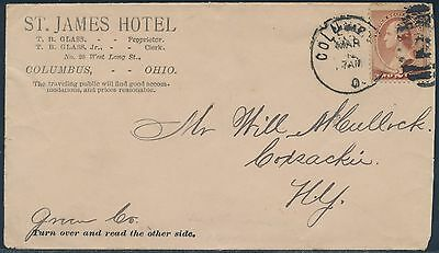 #210 On St. James Hotel W/ Merchant's Gargling Oil Liniment Adv't Cover Bs287