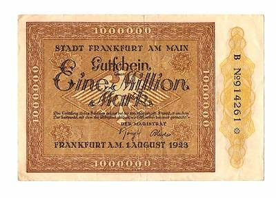 1923 Germany Weimar Republic 1.000.000 / 1 million mark banknote Frankfurt