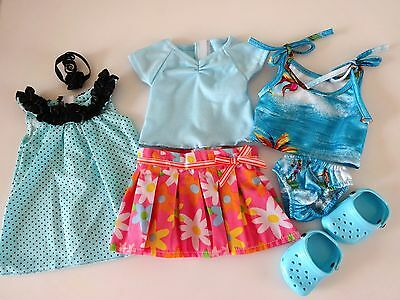 """NEW-Doll Summer Dress/Skirt/Shoes Sets Lot #137 fit 18"""" Dolls such as AG Dolls"""