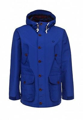 Fred Perry Mens Parka Jacket with Hood 100% Authentic Sizes: XS / S / M / L